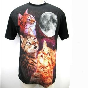 Chemistry Cats and Moon T-shirt